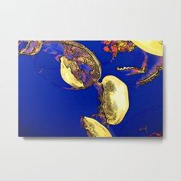 Mushrooms of the Sea - Jellyfish Metal Print