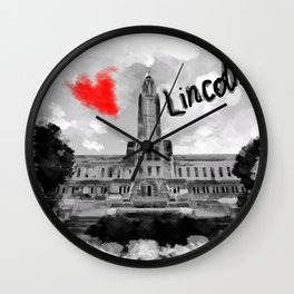 I love Lincoln Wall Clock