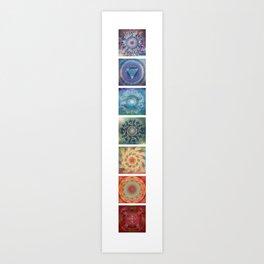 Seven (the chakras) Art Print