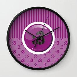 Purple Writer's Mood Wall Clock
