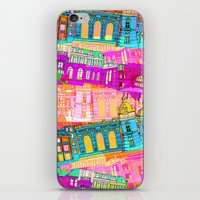 cityscape iPhone & iPod Skins featuring Cityscape by Aimee St Hill