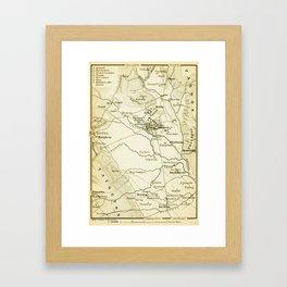 Vintage Map of Sparta Greece (1894) Framed Art Print