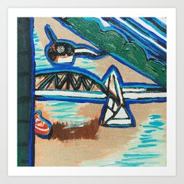 Brisbane River Painting Art Print