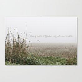 Nebel und Stille, deutsch Canvas Print