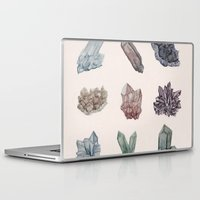 crystals Laptop & iPad Skins featuring Crystals by Samantha Crepeau