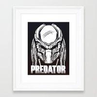 predator Framed Art Prints featuring Predator by OneAppleInBox