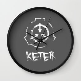 SCP foundation: Keter- White version Wall Clock