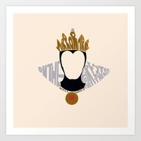 evil queen Art Prints featuring evil queen by pokegirl93