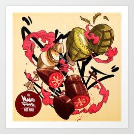 Food Not War Art Print