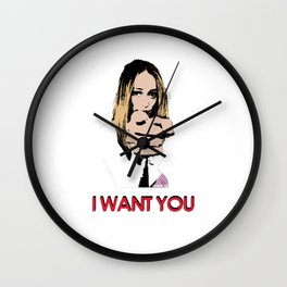"""I want you"" Alycia Debnam Carey Wall Clock"