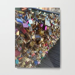 Love Locks in Paris Metal Print