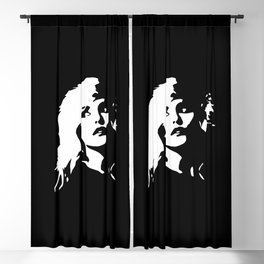 Blondie, Music Legend, Black, White, Cinema, Art, Author, Song Writer, Musician, Punk, Blackout Curtain