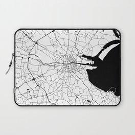 White on Black Dublin Street Map Laptop Sleeve