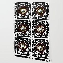 Patches in black and white Wallpaper