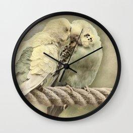 Budgie Buddies Wall Clock