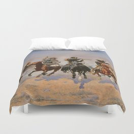 A Dash for the Timber - Frederic Remington Duvet Cover