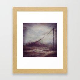 abstact landscape column Framed Art Print