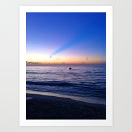 Grand Cayman Sunset Art Print