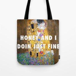 honey and i Tote Bag