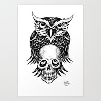 NIGHT EYES Art Print