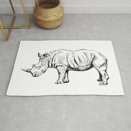 Rhinoceros Sketch Rug