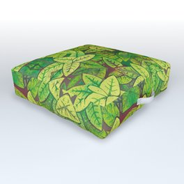 Spring leaves Outdoor Floor Cushion