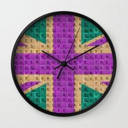 Scrabble Union Jack #4 Wall Clock