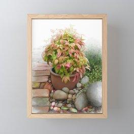 Leaves and Dew Framed Mini Art Print