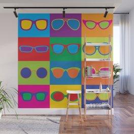 Pop Art Eyeglasses Wall Mural