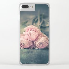 Lovely Ranunculus Clear iPhone Case