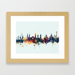 Helsinki Finland Skyline Framed Art Print