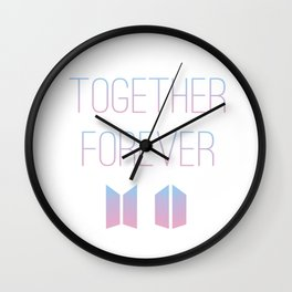Together Forever BTS Wall Clock