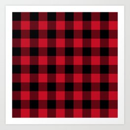 Buffalo Check Red Black Plaid Art Print