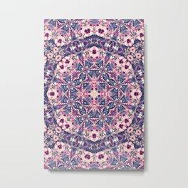 mandala 4 purple #mandala Metal Print