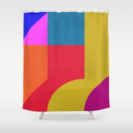 hard edge architecture  Shower Curtain