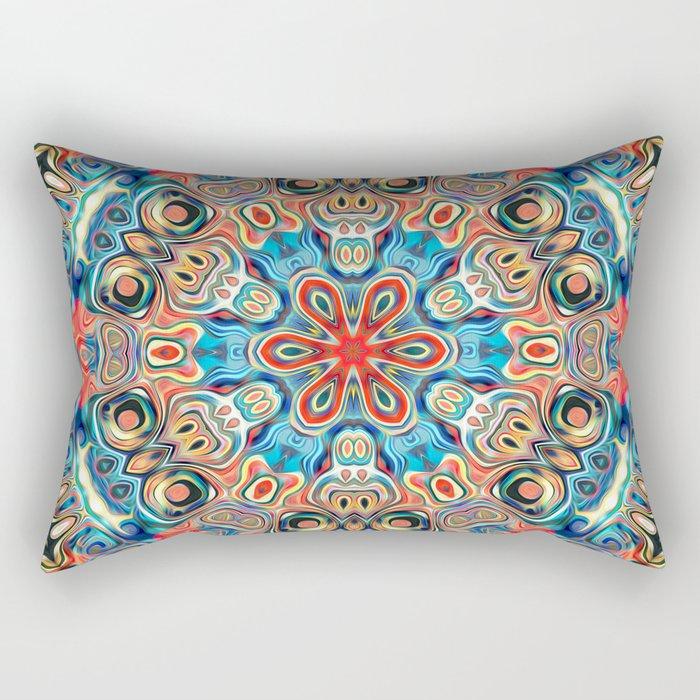 Abstract Tribal Mandala Rectangular Pillow