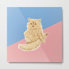 Persian Cat Meow Metal Print