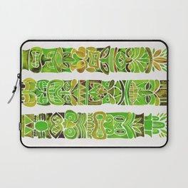 Tiki Totems – Green Laptop Sleeve