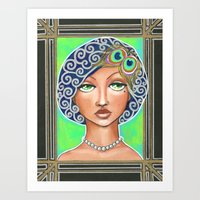 great gatsby Art Prints featuring Great Gatsby by Jaymee Laws
