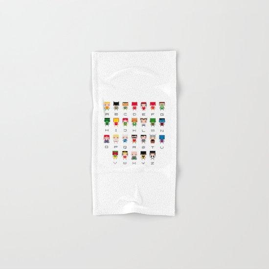 Superhero Alphabet Hand & Bath Towel