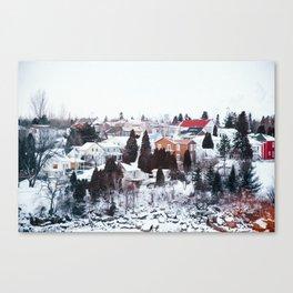 French Winter Village Canvas Print