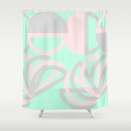 Flowers and circles Shower Curtain