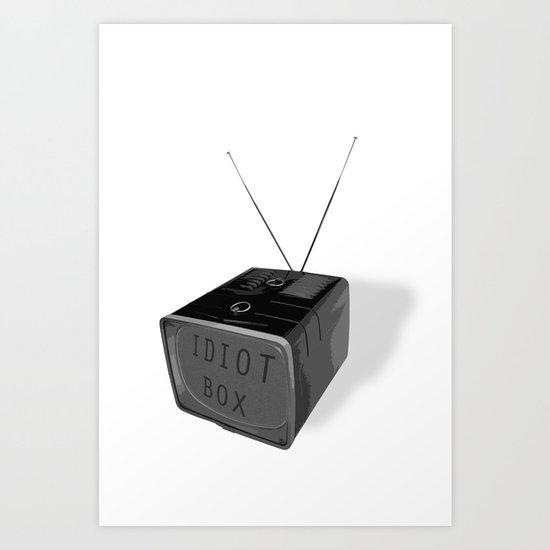 Idiot box Art Print