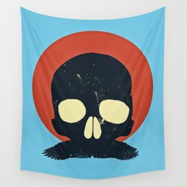 Skull With Stache Wall Tapestry