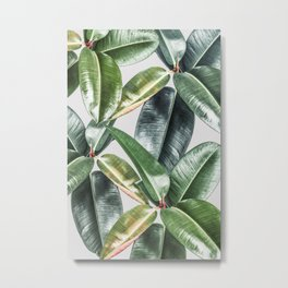 Tropical Leaves Green Lush Pattern | Lush Leaf Photography Metal Print