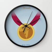hercules Wall Clocks featuring Hercules | Fairy Tales by Gabriele Omar Lakhal