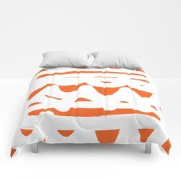 Orange and White Abstract Pattern Comforters