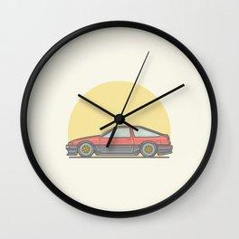 Toyota AE86 Vector illustration Wall Clock