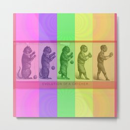 The Evolution of a Catcher Metal Print
