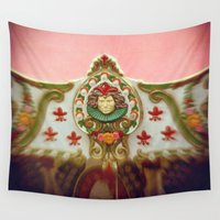 carnival Wall Tapestries featuring Joker's Carnival by Trish Mistric